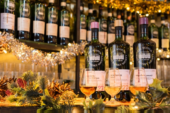SMWS Christmas Tasting flight at Kaleidoscope Bar TillBritze