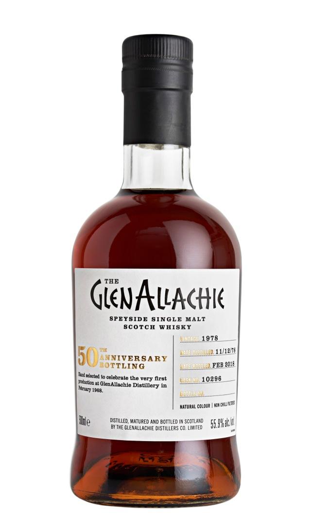 GlenAllachie's 50th anniversary bottle