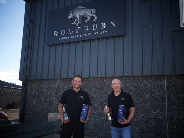 Wolfburn Shane Fraser and Iain Kerr Langskip